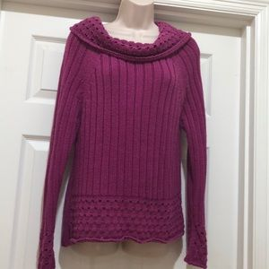 Vintage Forenza Berry Color Sweater Size XL